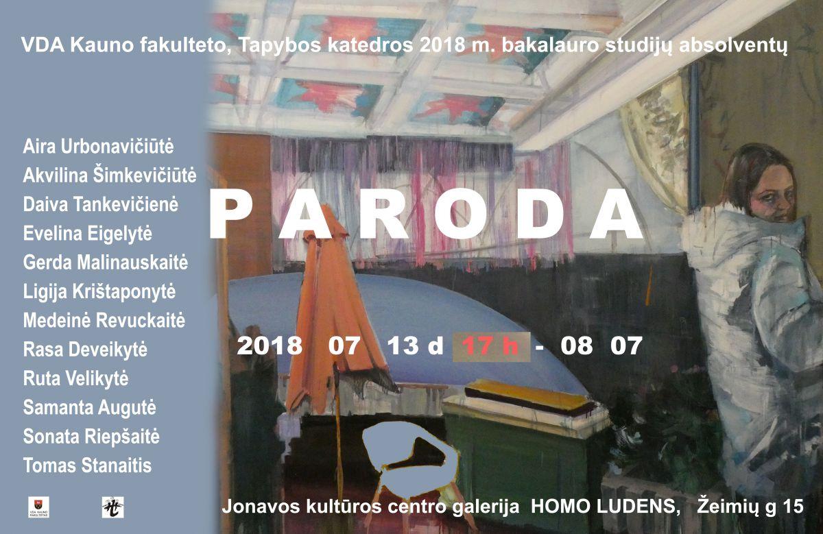VDA Kauno fakulteto Tapybos katedros absolventų paroda