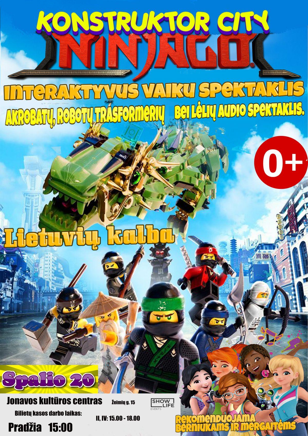 """Audio spektaklis su lėlėmis """"Nuotykiai LEGO mieste"""