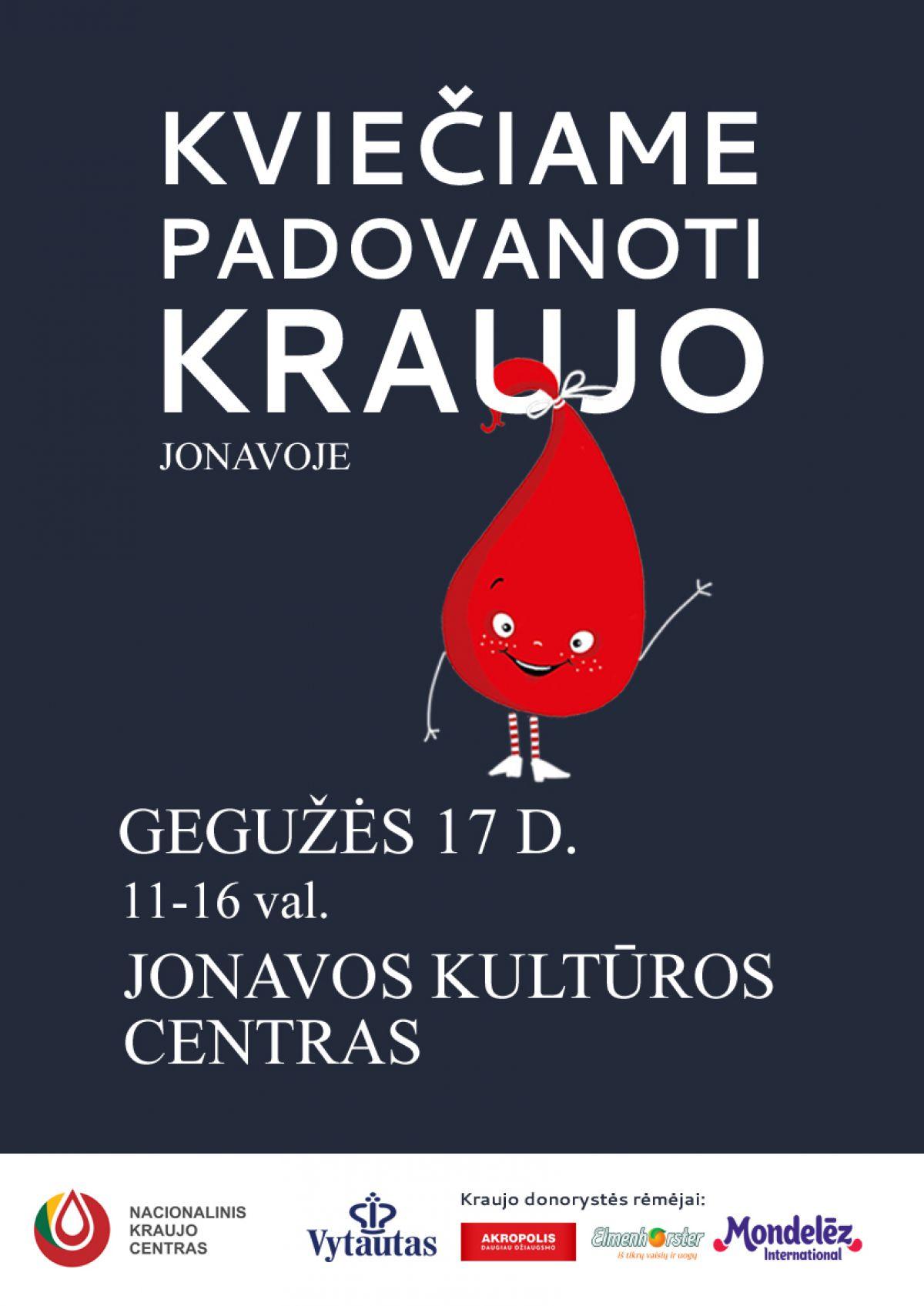 Nacionalinio kraujo centro donorystės akcija