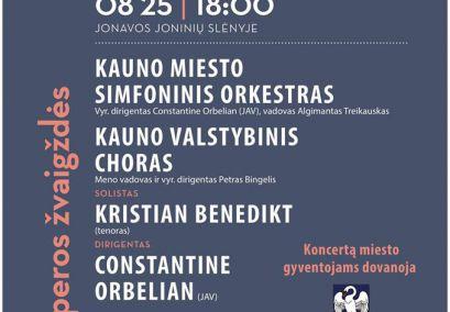 """Pažaislio muzikos festivalio koncertas """"Operos žvaigždės"""""""
