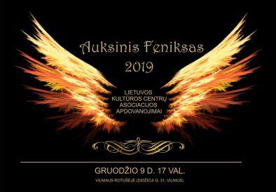 """Iškilmingai bus įteikti ypatingieji Lietuvos kultūros centrų asociacijos apdovanojimai - """"Auksinis Feniksas"""""""