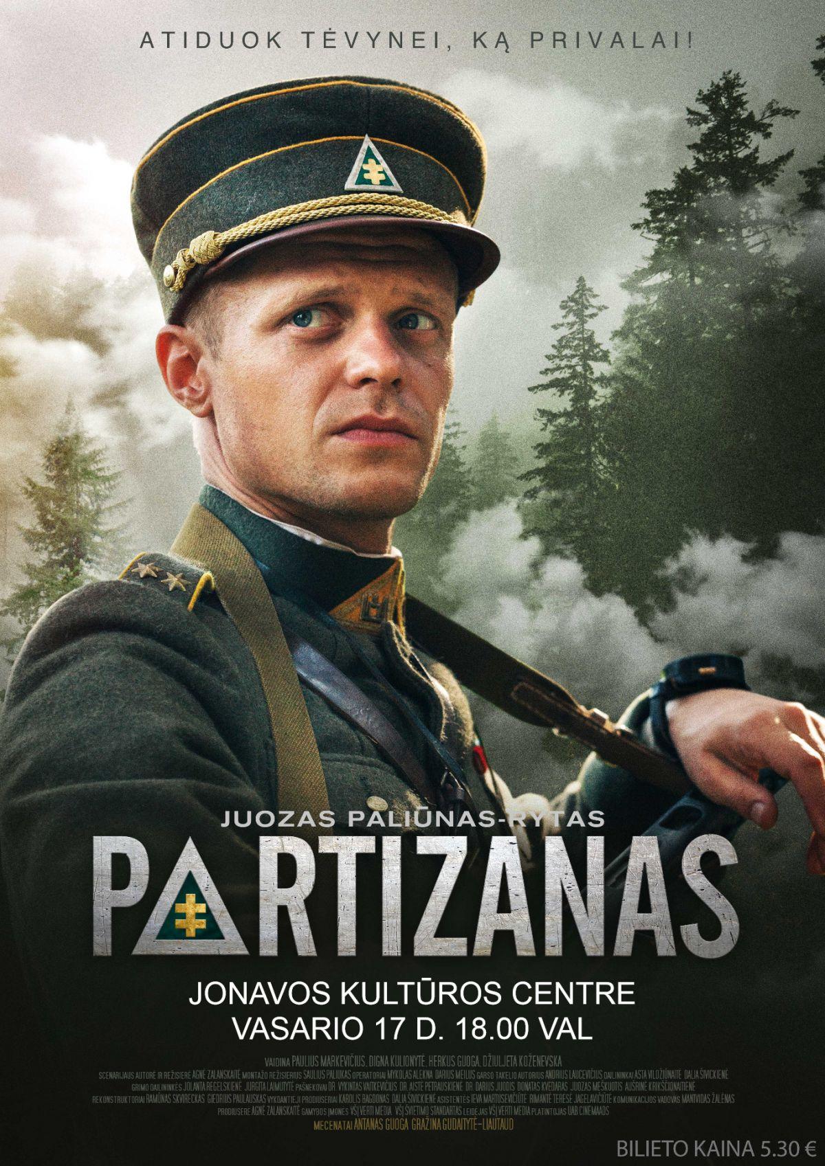 """Kino pirmadienis. Kino filmas """"Partizanas"""