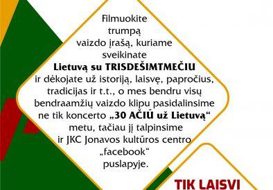 Prisijunkite prie Lietuvos nepriklausomybės atkūrimo dienos!