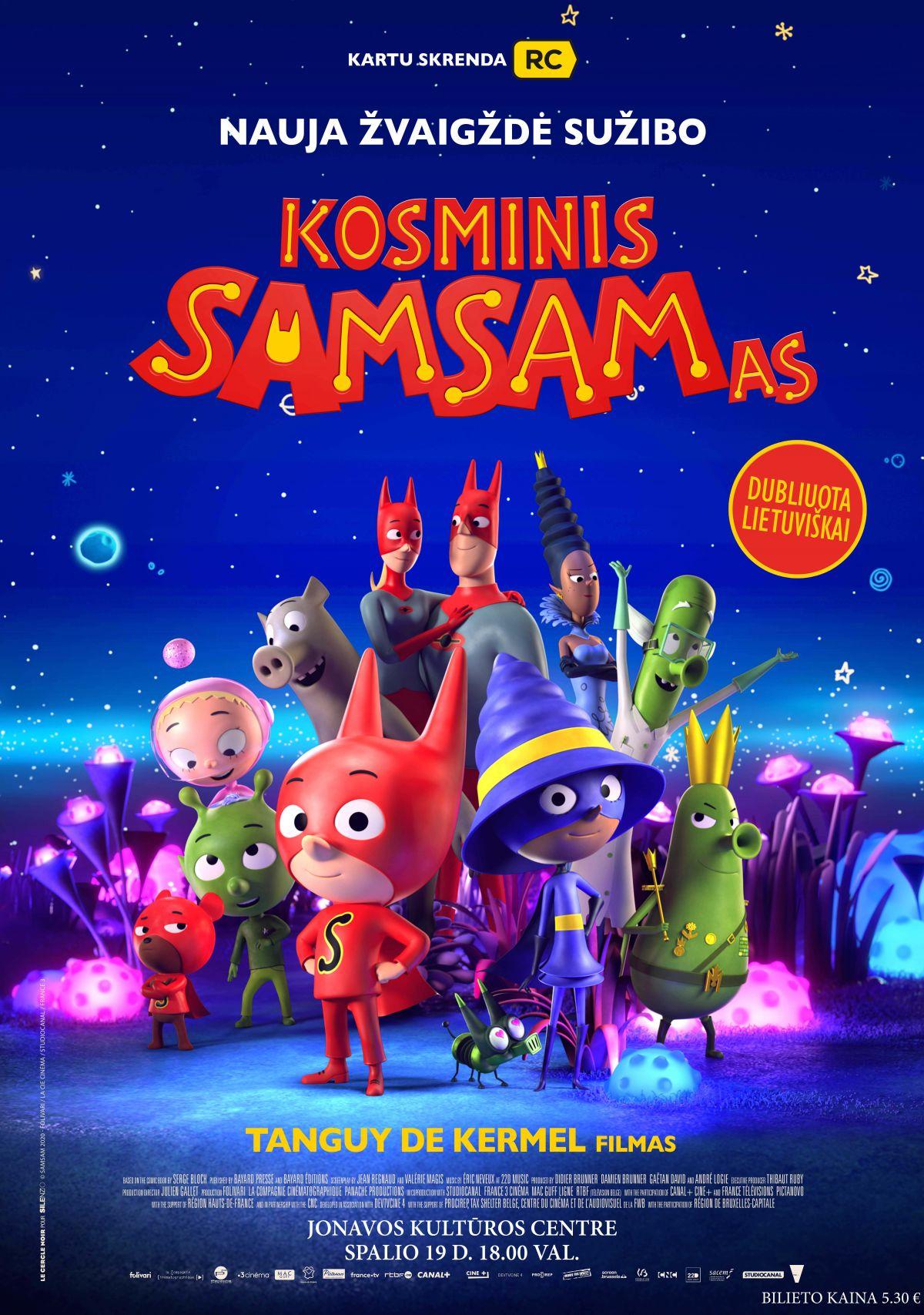"""Kino pirmadienis. Kino filmas """"Kosminis Samsamas"""