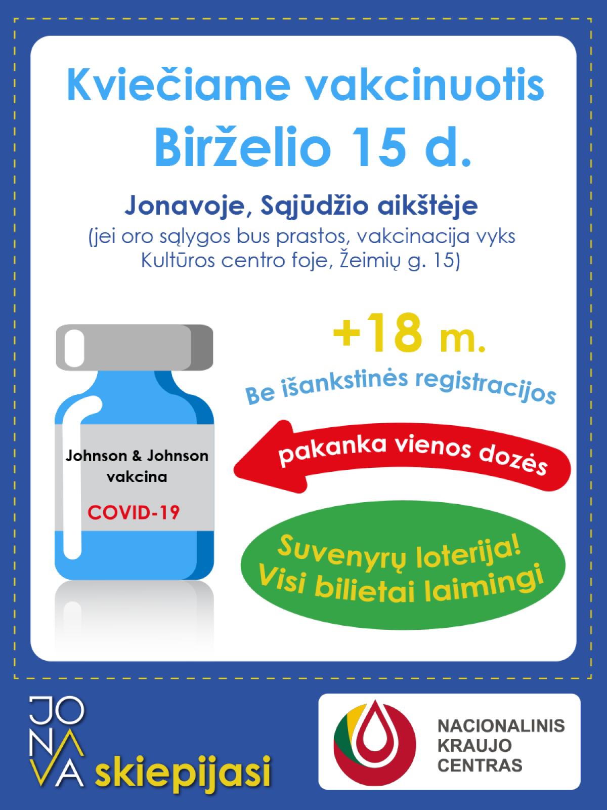 Vakcinavimo akcija Jonavoje