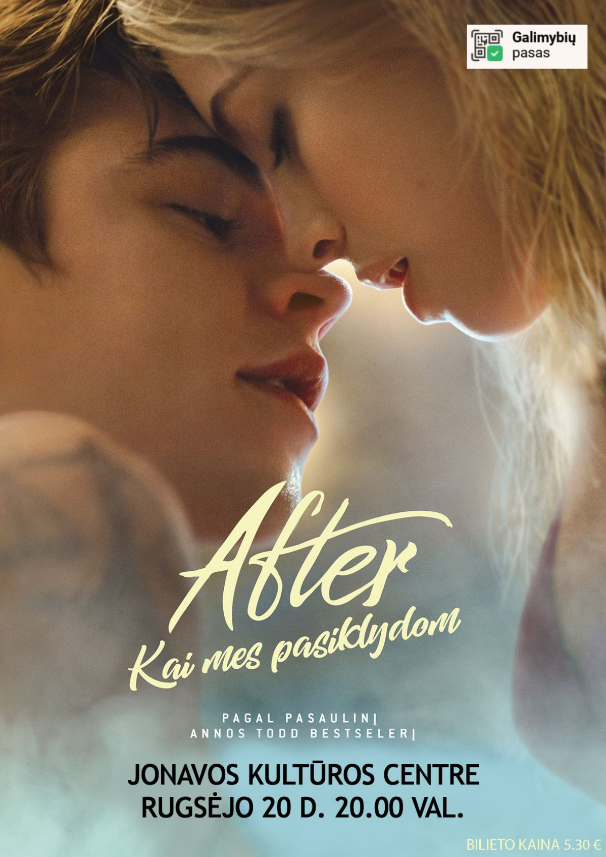 """Kino filmas """"After. Kai mes pasiklydom"""""""
