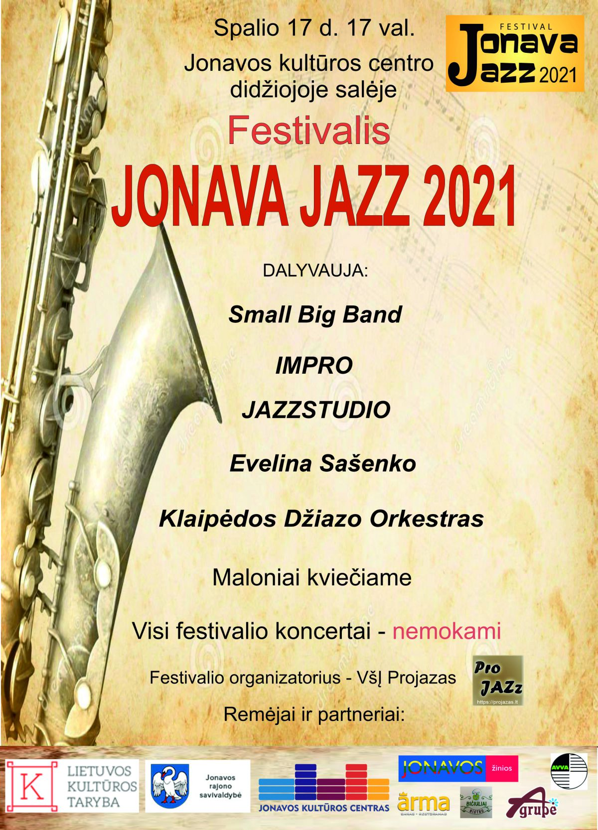 "Džiazo festivalis ""Jonava Jazz 2021"""